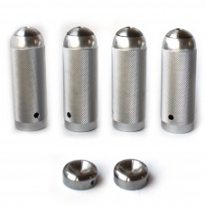 MAD-TI BMX Flatland Pegs Silver 4pcs set + Everlast bar ends free