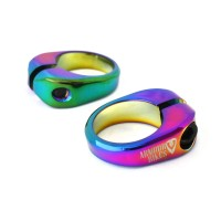 Seat Post Clamp 28.6mm Oil Slick For BMX