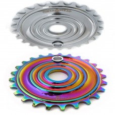 Shockwave 25T  Sprocket Oil Slick Chrome