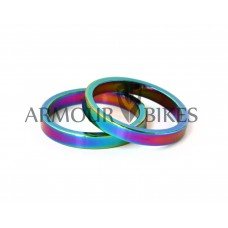 "Headset Spacer 2pcs 1-1/8"" 5mm oil slick"