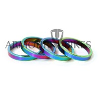 "Headset Spacer 4pcs 1-1/8"" 5mm oil slick"