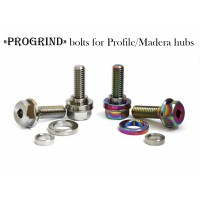 ProGrind 3/8x16tpi Titanium profile hub bolts Oil Slick Silver