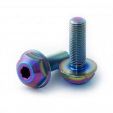 Titanium BMX hub bolts 3/8x24tpi Oil Slick