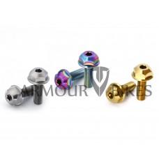 3/8x24tpi titanium hub bolts Ti-6Al-4V Oil Slick Silver