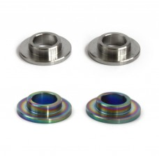 Bicycle dropout axle adapters 10mm to 14mm titanium