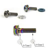 "Titanium ""GoGrind"" hub bolts 3/8x24tpi Ti-6Al-4V Oil Slick Silver"