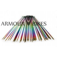 14G BMX Spokes Oil Slick 20pcs set