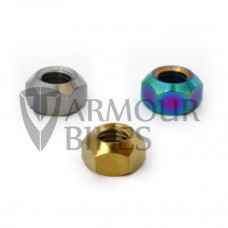 Seat post nuts oil slick silver gold
