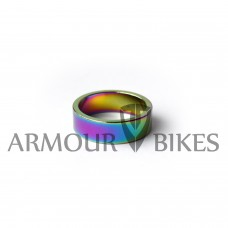 "Headset Spacer 1-1/8"" 10mm oil slick"