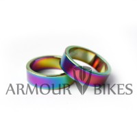 "Headset Spacers 2pcs 1-1/8"" 10mm oil slick"