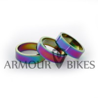 "Headset Spacer 3pcs 1-1/8"" 10mm oil slick"