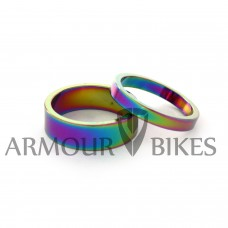 "Headset Spacer 1-1/8"" 5mm+10mm oil slick"